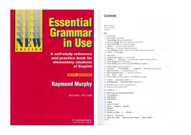 raymond murphy essential grammar in use ответы