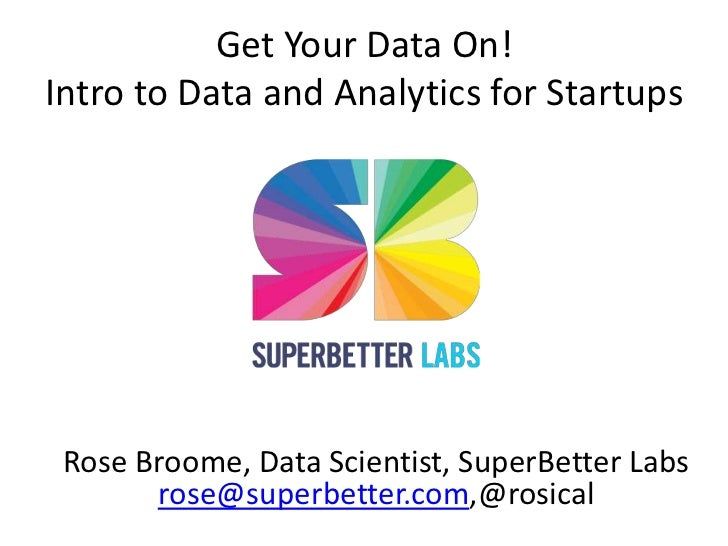 Intro to Data and Analytics for Startups