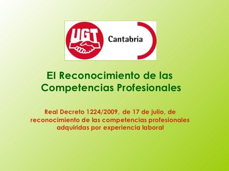 Procedimiento de reconocimento de las competencias profesionales
