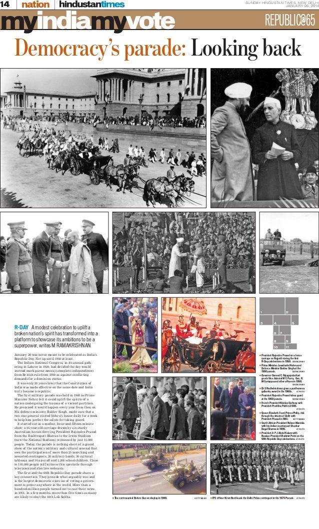 Democracy's Parade: Looking back