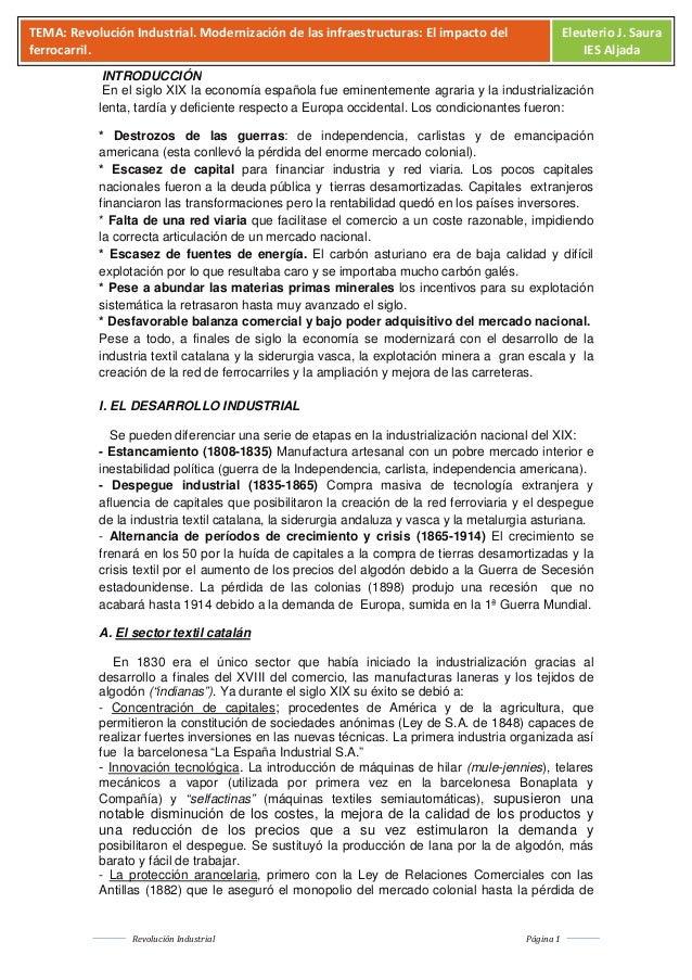 R. industrial en España. PAU
