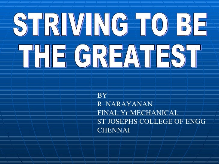 BYR. NARAYANANFINAL Yr MECHANICALST JOSEPHS COLLEGE OF ENGGCHENNAI