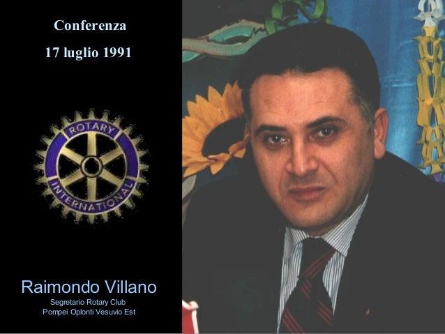 """Raimondo Villano - Conferenza: """"La crisi jugoslava: origine, sviluppo, implicazioni internazionali"""" (1991)"""