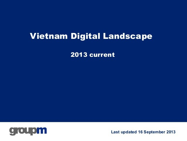 GroupM - Vietnam digital landscape  09/2013
