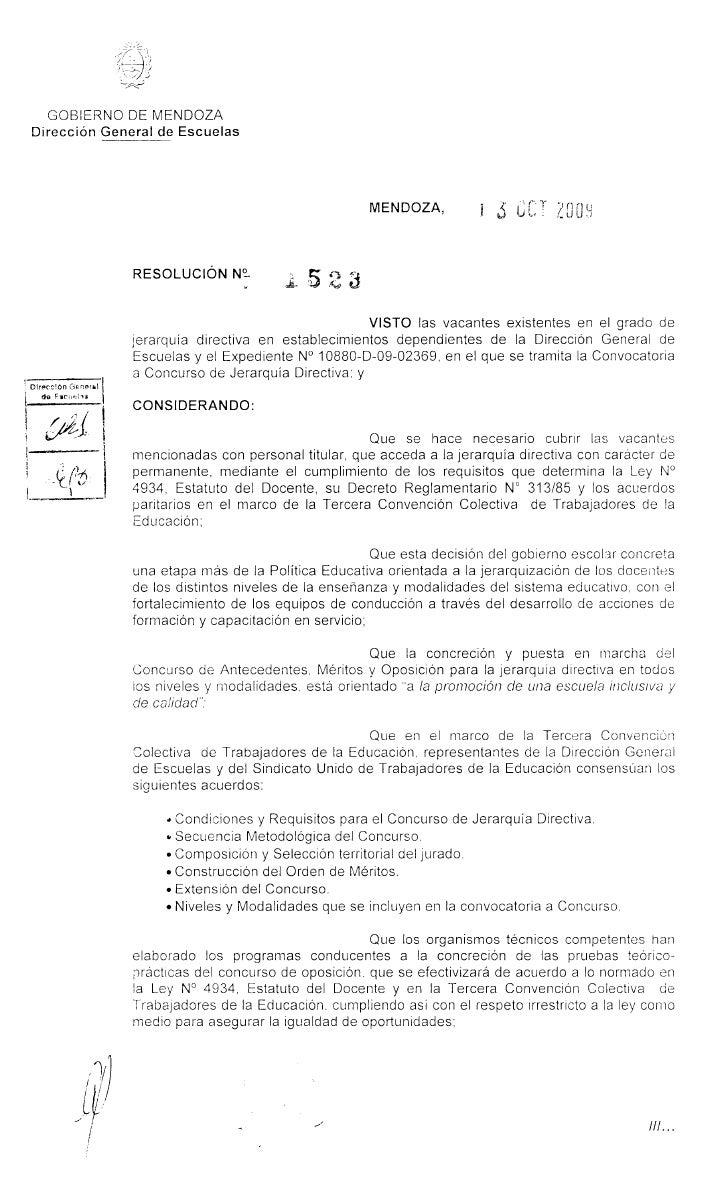 GOBIERNO DE MENDOZA Direccion General de Escuelas                                                      MENDOZA,           ...