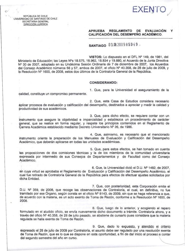 REPÚBLICA DE CHILE                                                                                   EXENTO;UNlirJERSIDAD ...