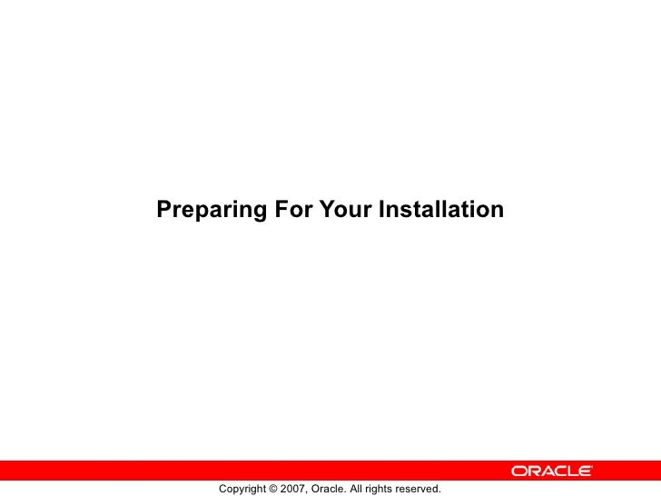 Preparing For Your Installation