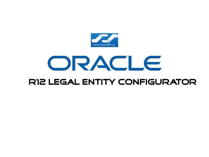 R12 Legal Entity configurator