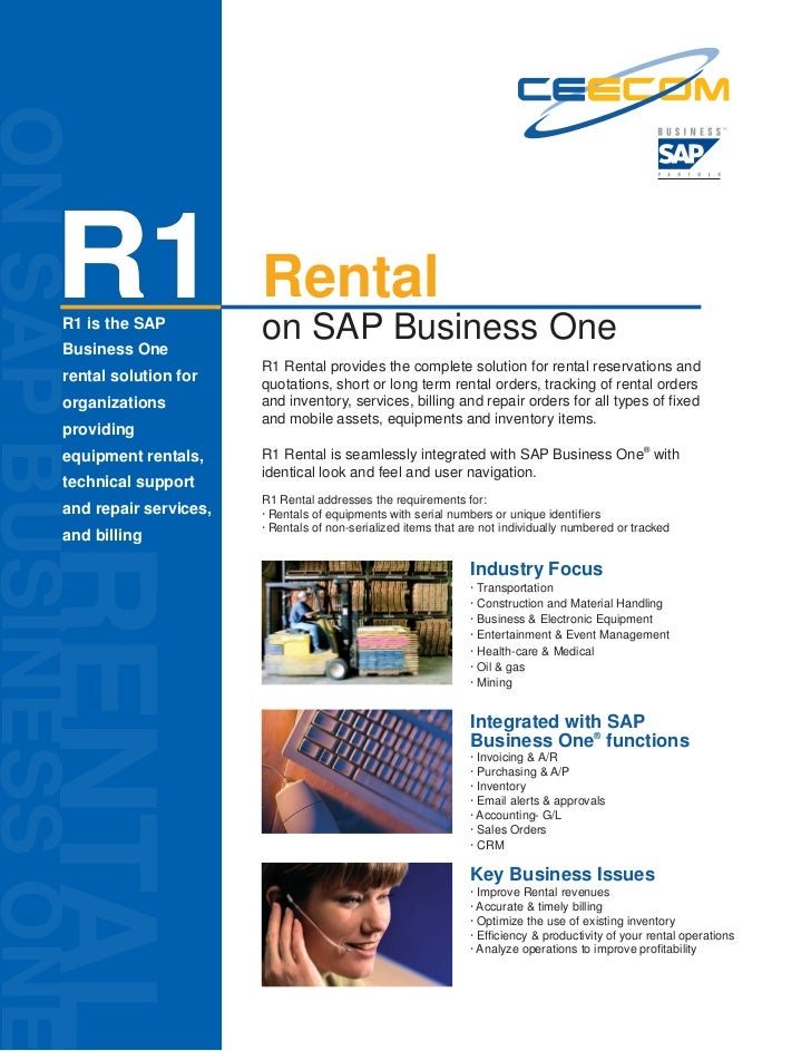 R1 Rental Solution on SAP Business One