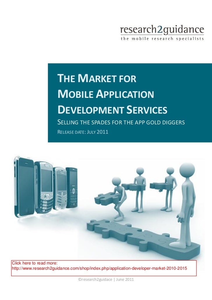 THE MARKET FOR                      MOBILE APPLICATION                      DEVELOPMENT SERVICES                      SELL...