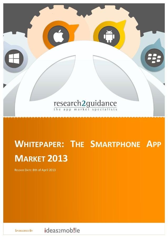 Whitepaper: Smartphone App Market 2013