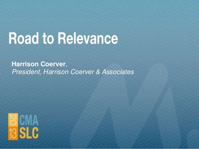 """Road to Relevance"""