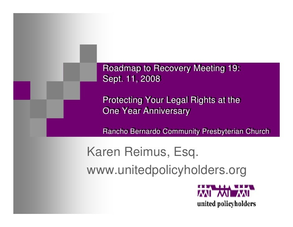 Roadmap to Recovery Meeting 19:   Roadmap to Recovery Meeting 19:   Sept. 11, 2008   Sept. 11, 2008    Protecting Your Leg...