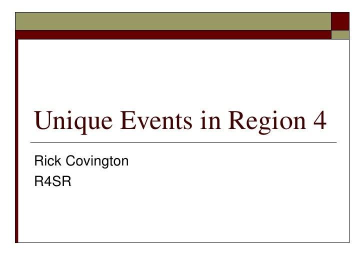 Region 4 Presentation
