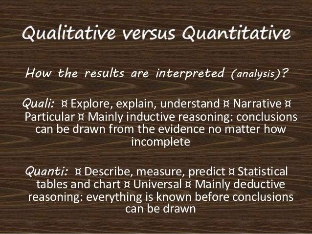 Example of Quantitative and Qualitative Documents?