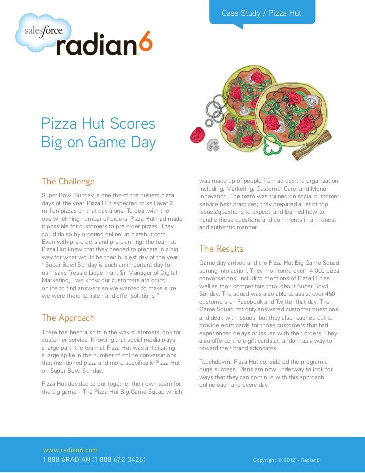 Case Study / Pizza HutPizza Hut ScoresBig on Game DayThe Challenge                                          was made up of...
