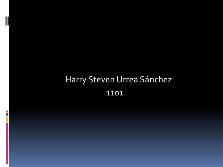 Harry Steven Urrea Sánchez <br />                                           1101<br />