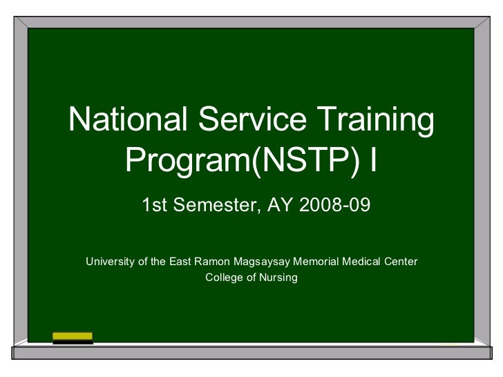 National service training programme essay