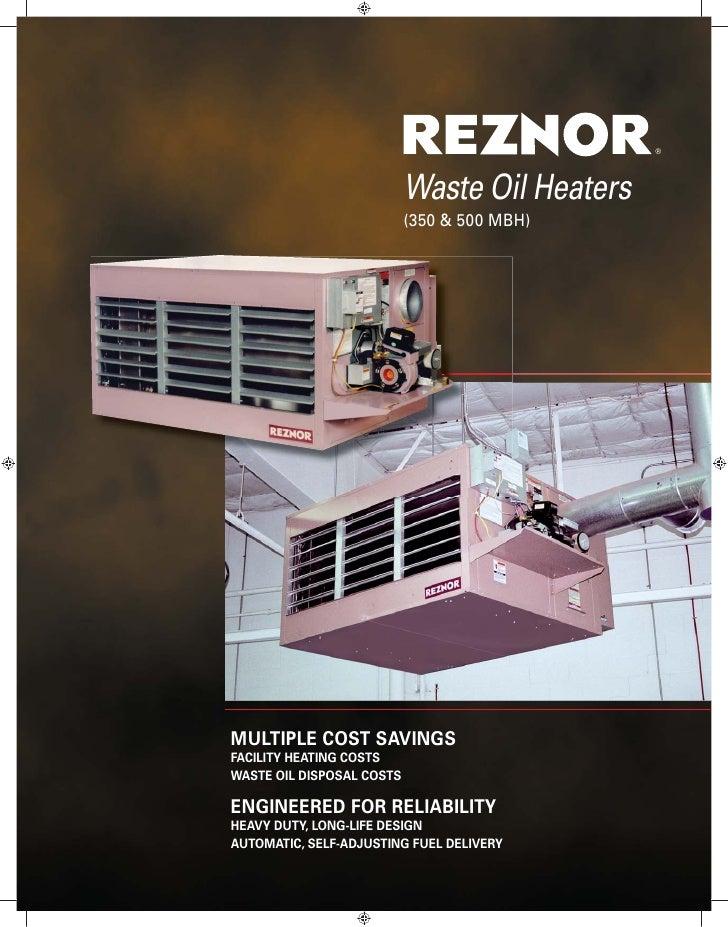 Rezor Waste Vegetable Oil Heaters
