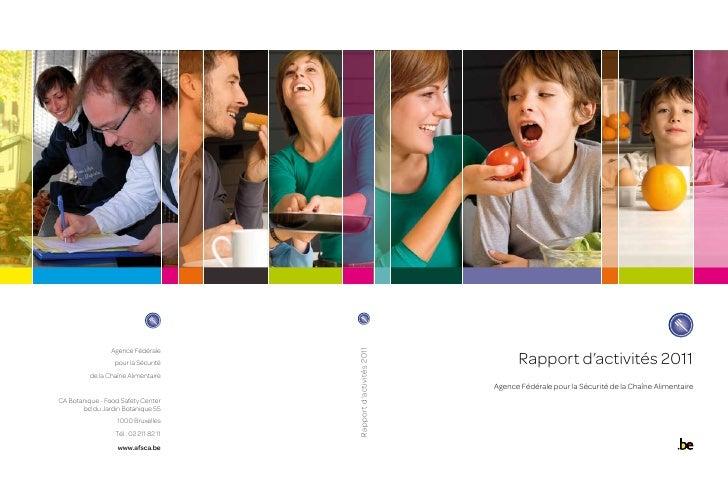 Agence Fédérale                  pour la Sécurité     Rapport d'activités 2011          Rapport d'activités 2011          ...