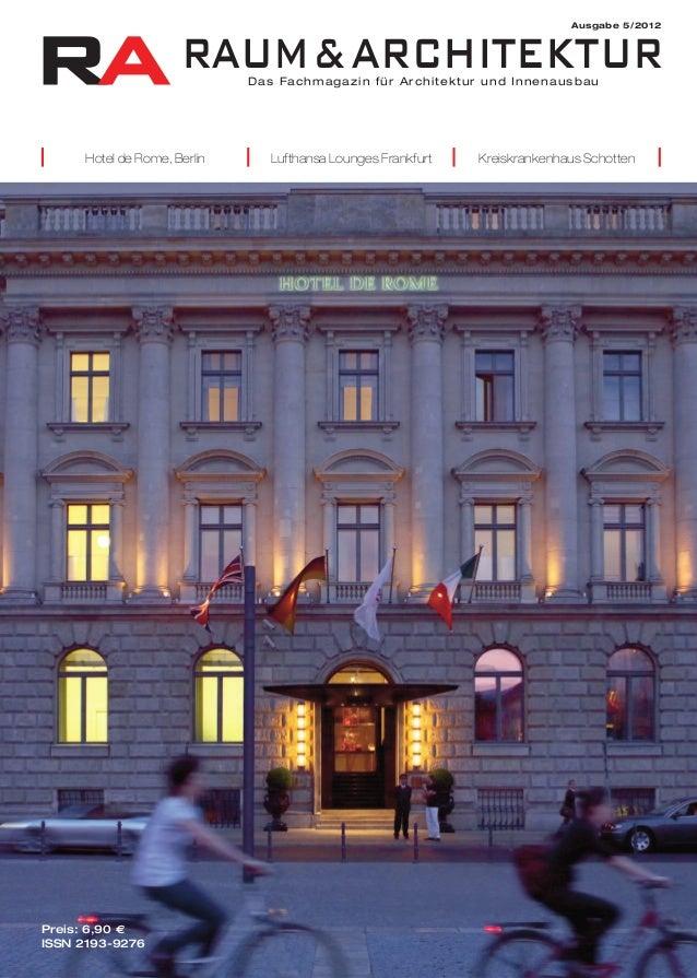 RA RAUM&ARCHITEKTUR                                                                           Ausgabe 5/2012              ...