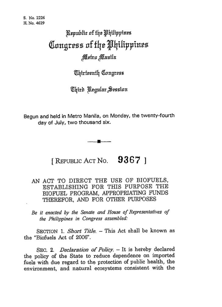 Begun and held in Metro Manila, on Monday, the twenty-fourth     day of July, t w o thousand six.           [ REPUBLIC No....