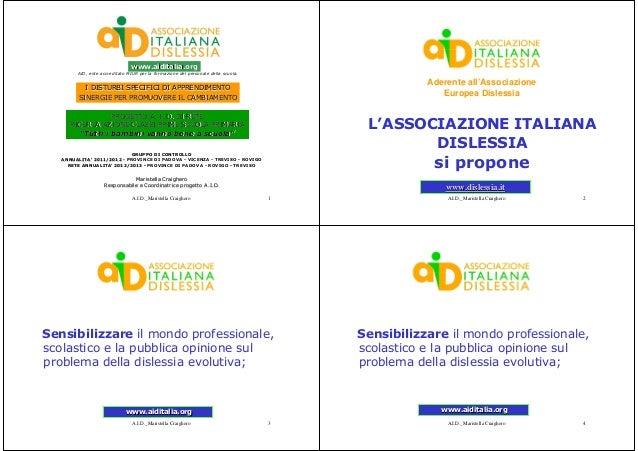 www.aiditalia.org        AID, ente accreditato MIUR per la formazione del personale della scuola.                         ...