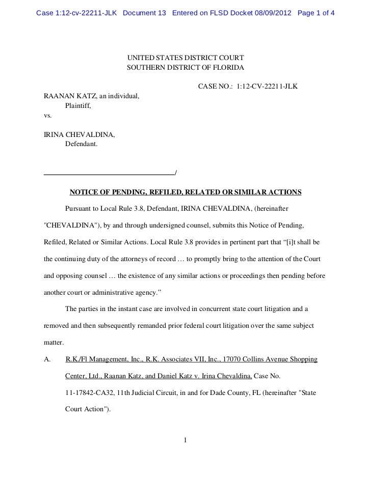 Case 1:12-cv-22211-JLK Document 13 Entered on FLSD Docket 08/09/2012 Page 1 of 4                                UNITED STA...