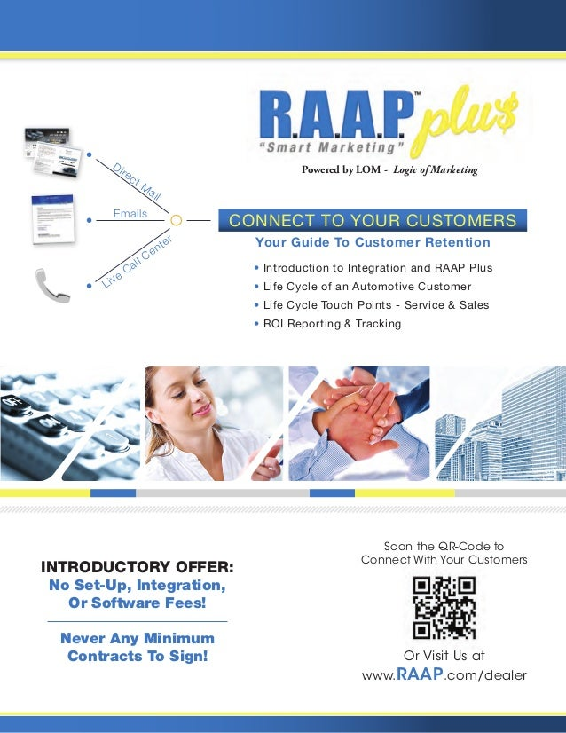 • Introduction to Integration and RAAP Plus • Life Cycle of an Automotive Customer • Life Cycle Touch Points - Service & S...