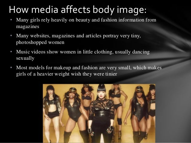 "the impact of mass media on eating habits and body image disorders Effects of ""thin ideal"" media on women's body image concerns of both healthy and dysfunctional eating habits (ie to calculate their body mass index."
