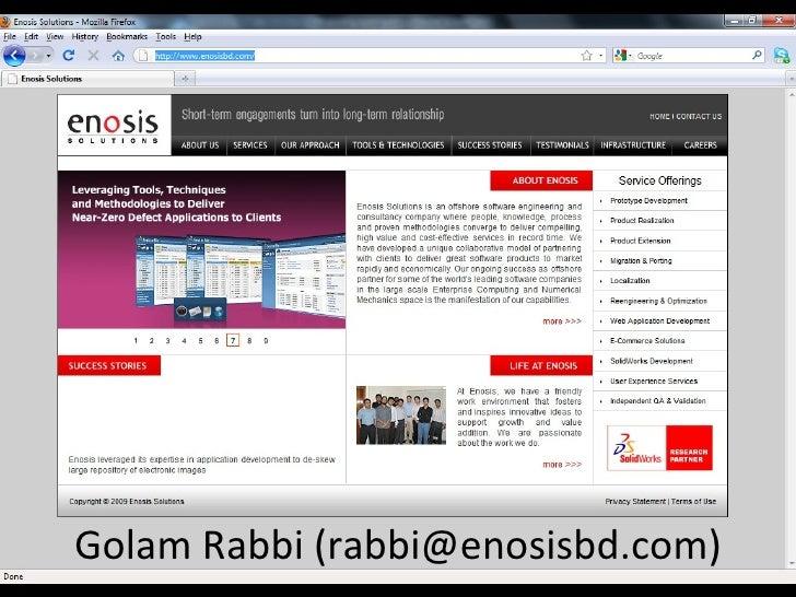 Golam Rabbi (rabbi@enosisbd.com)