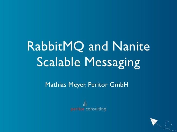 RabbitMQ And Nanite