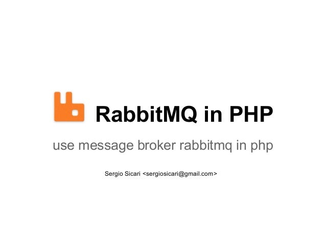 RabbitMQ in PHP