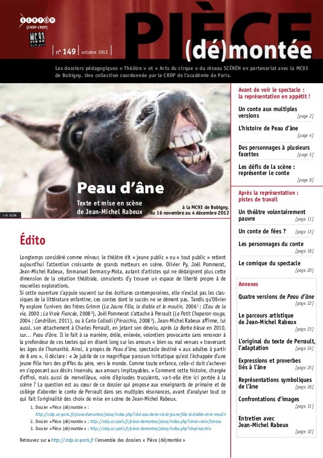 n° 149 octobre 2012  Les dossiers pédagogiques « Théâtre » et « Arts du cirque » du réseau SCÉRÉN en partenariat avec la M...