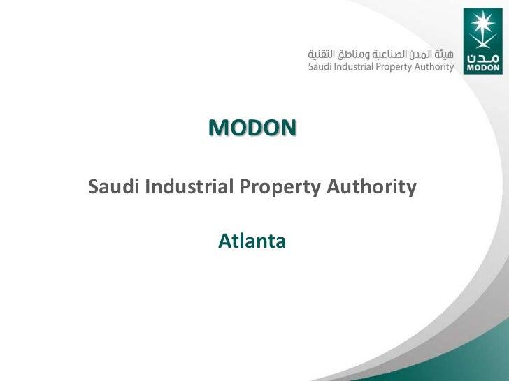 MODONSaudi Industrial Property Authority             Atlanta