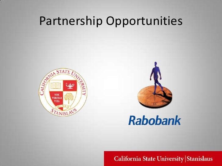 Partnership Opportunities<br />