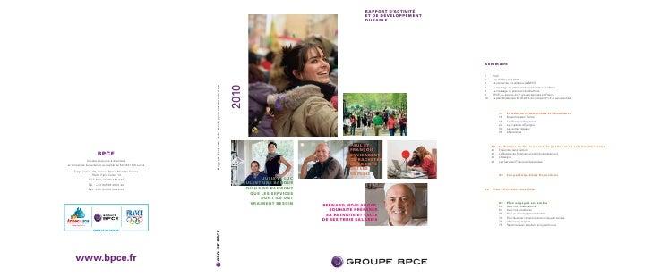 Rapport d'activité 2010 du Groupe BPCE
