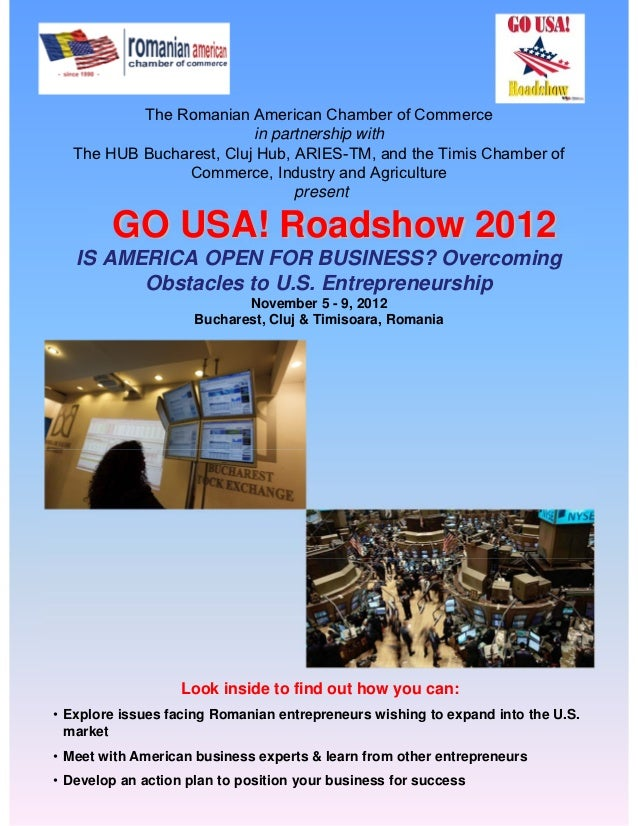 RACC's GO USA! Roadshow 2012 conference brochure