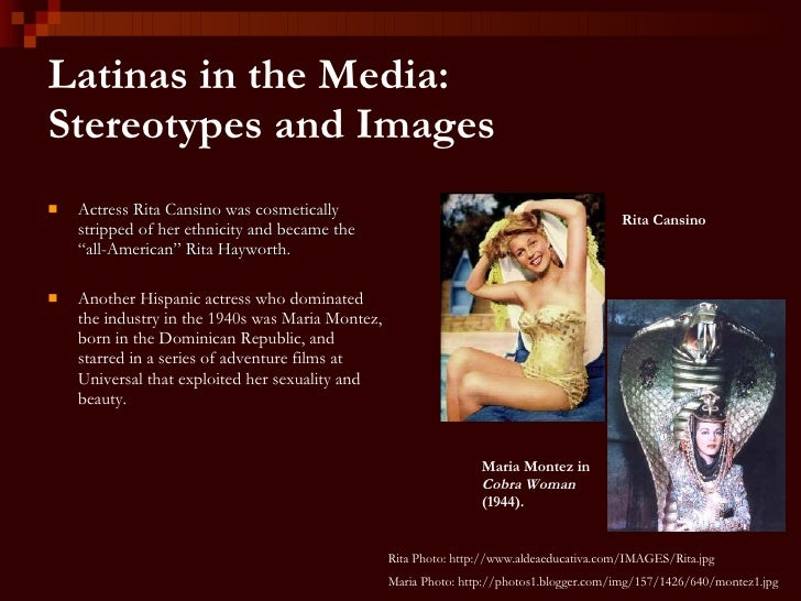stereotyping latin women essay From latin to latino lover: hispanicity and female desire in popular culture   the essay starts with an analysis of the sheik (1921), which is generally  in the  definitions: the profoundly visual nature of the stereotype.