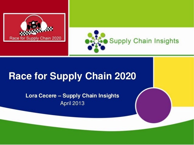 Race for supply chain 2020