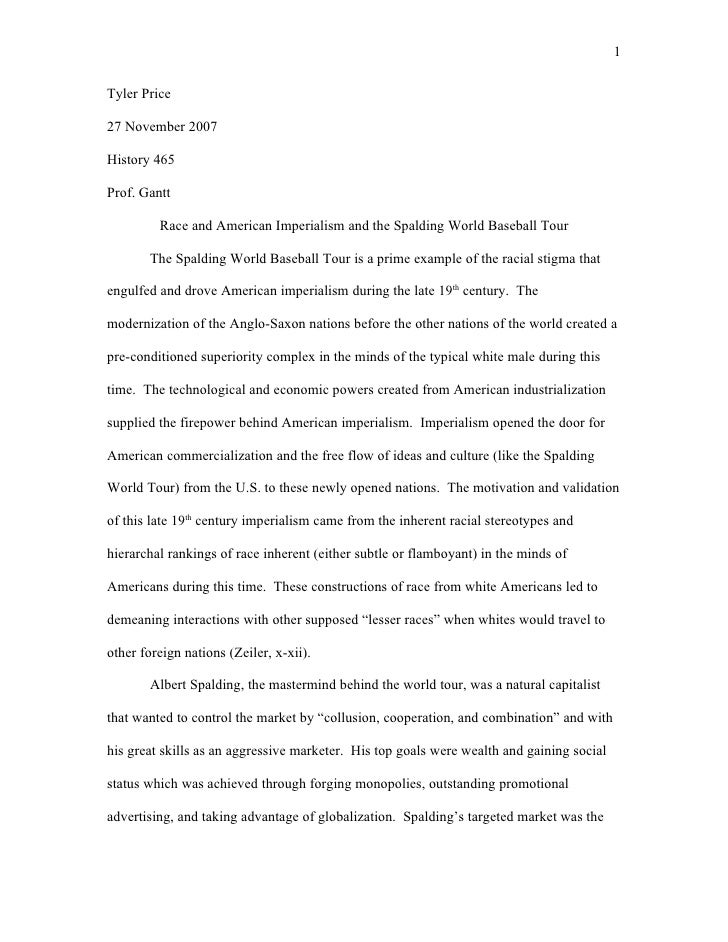Baseball research paper