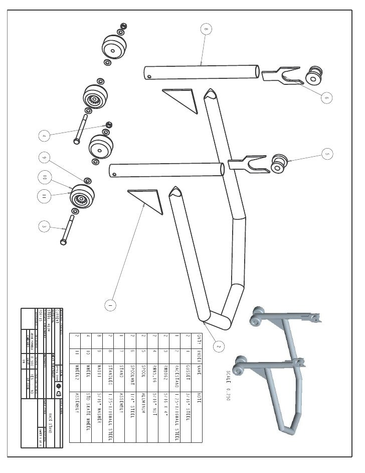 Racestand Drawing
