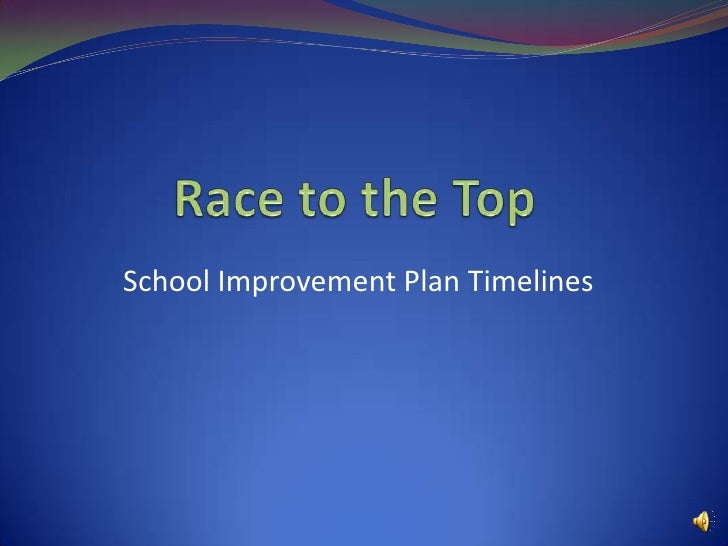 Race to the Top<br />School Improvement Plan Timelines<br />