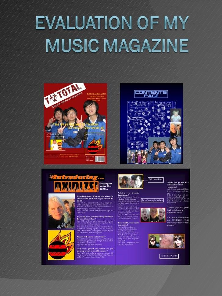Rachael Mc Carthy Music Magazine Evaluation