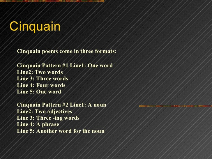 Cinquain Cinquain poems come Soccer Is My Life Poem