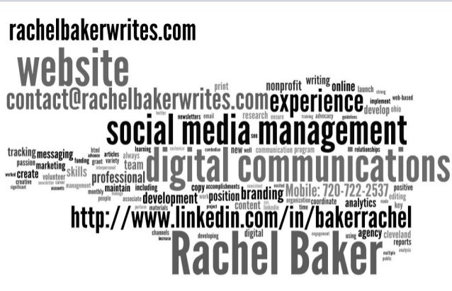 Rachel Baker Writes - Digital Communications: Website   Social Media   Editing   Writing