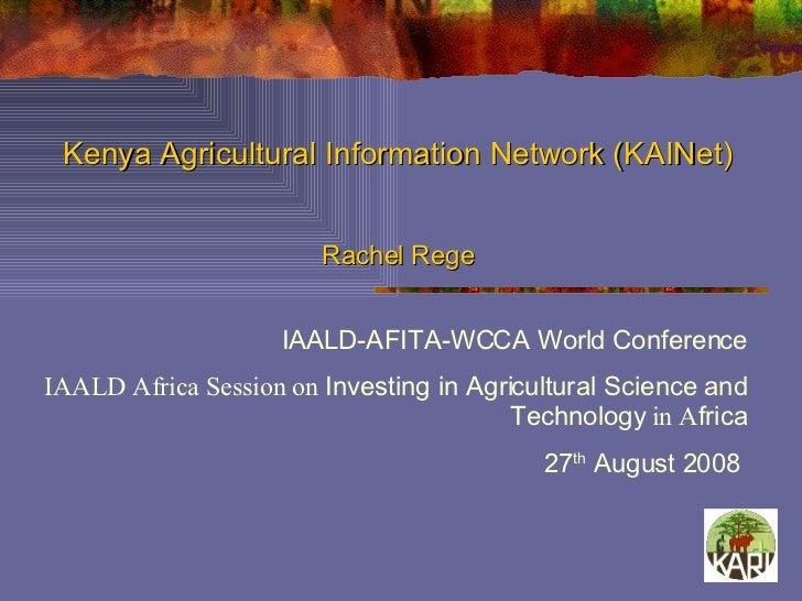 Kenya Agricultural Information Network (KAINet)
