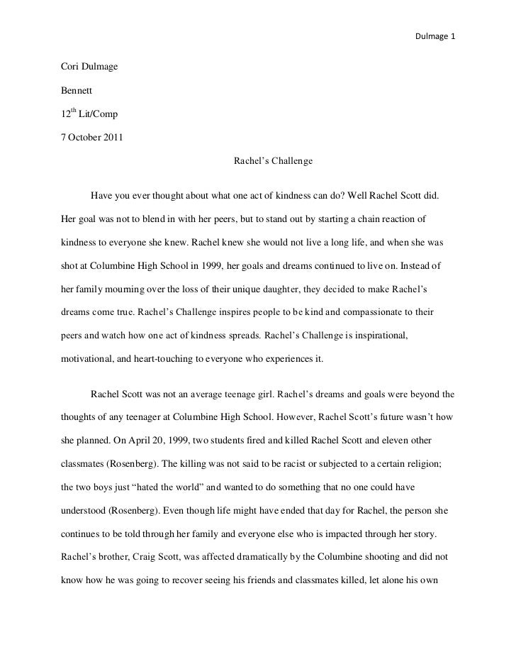 Senior Project Research Paper Dulmage 1Cori DulmageBennett12th Lit ...