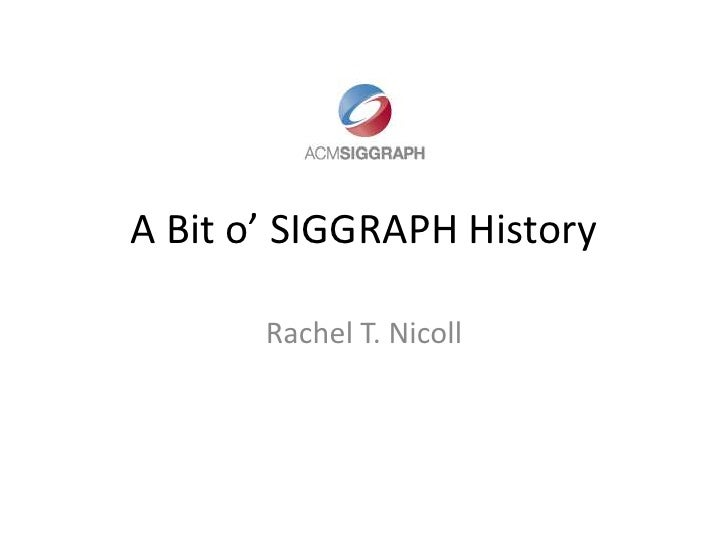 My history with Siggraph