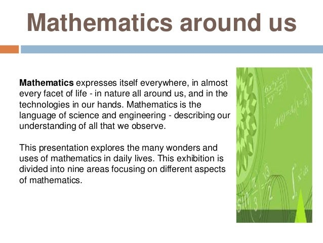 Use of mathematics in daily life essay in 200 words
